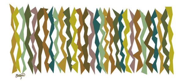 Vertical Line Digital Art - Seaweed Color Sticks  by Patricia Lintner