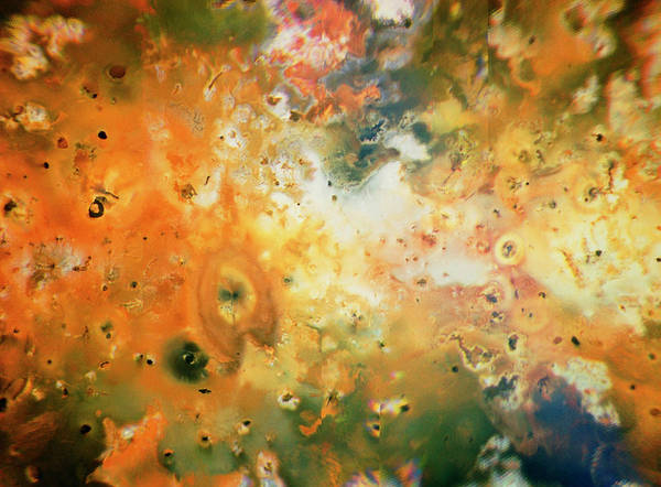 Lava Lakes Photograph - Voyager 1 Image Of The Surface Of Io by Credit; Us Geological Survey/nasa/science Photo Library