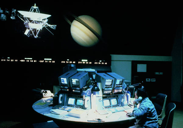 Wall Art - Photograph - Voyager 1 Mission Control During Saturn Encounter by Peter Ryan/science Photo Library