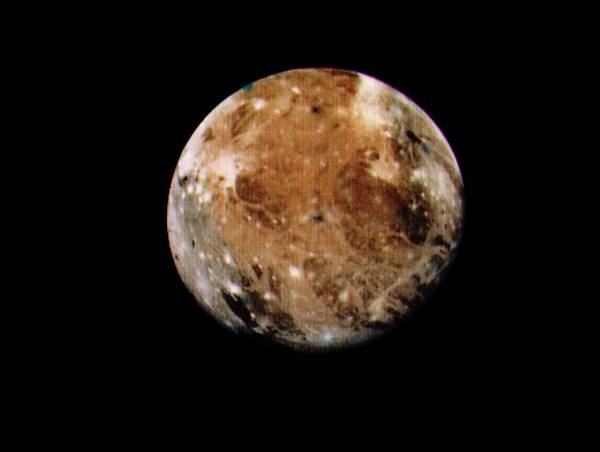 Voyager Photograph - Voyager 1 Photo Of Ganymede by Nasa/science Photo Library