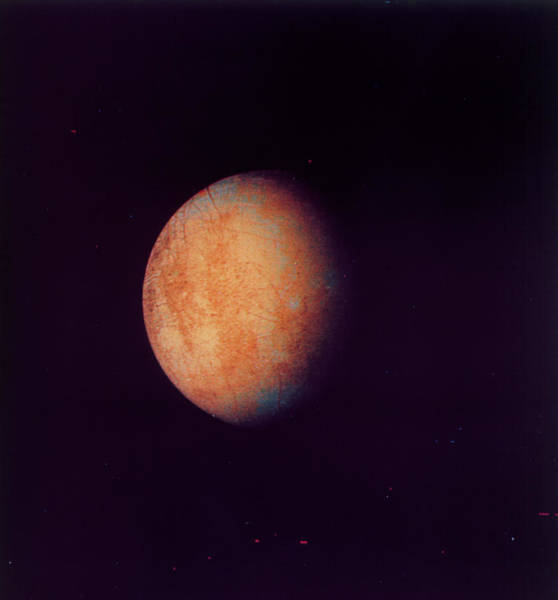 Voyager Photograph - Voyager 2 Image Of Europa by Nasa/science Photo Library.