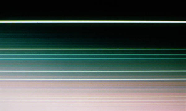 Voyager Photograph - Voyager 2 Image Of The Rings Of Uranus by Nasa/science Photo Library