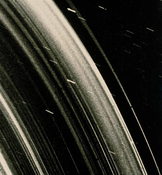 Voyager Photograph - Voyager 2 Image Of The Uranian Ring System by Nasa/science Photo Library