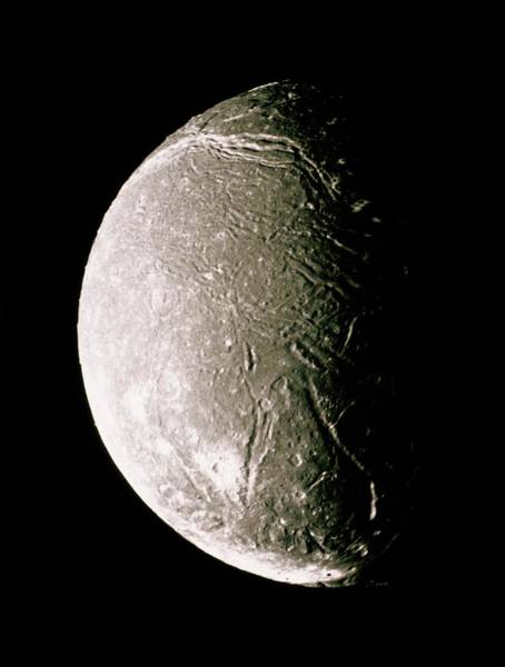 Voyager Photograph - Voyager 2 Mosaic Image Of Uranus's Moon Ariel by Nasa/science Photo Library