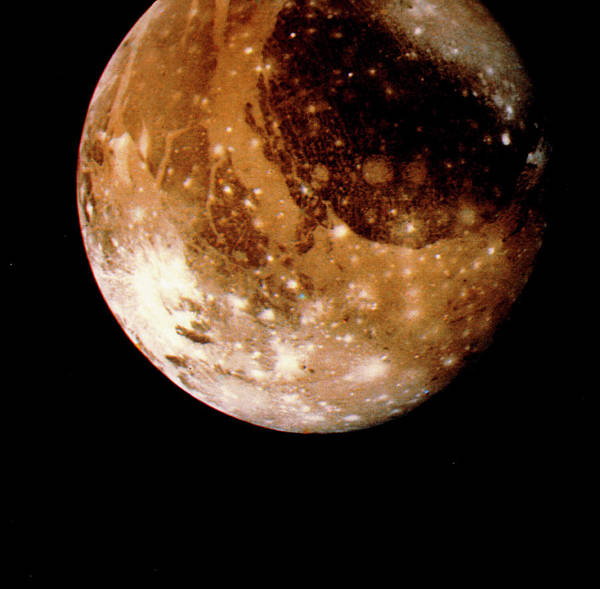 Voyager Photograph - Voyager 2 Photo Of Ganymede by Nasa/science Photo Library