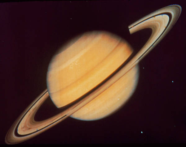 Voyager Photograph - Voyager 2 Photo Of Saturn by Nasa/science Photo Library