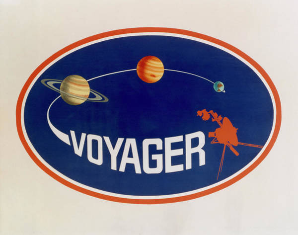 Voyager Photograph - Voyager Mission Emblem by Nasa/science Photo Library