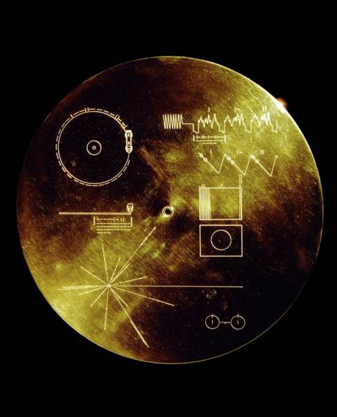 Wall Art - Photograph - Voyager Spacecraft Plaque by Nasa/science Photo Library