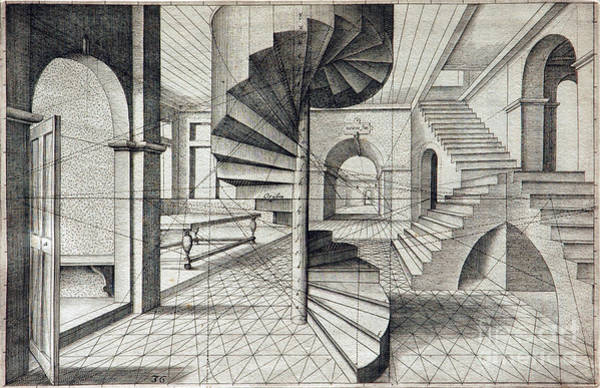 1604 Photograph - Vredeman De Vriess Perspective 1604 by Science Source