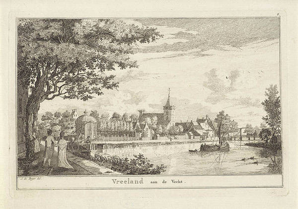 Hiking Drawing - Vreeland, The Netherlands, Print Maker Willem Writs by Willem Writs And Jan De Beijer