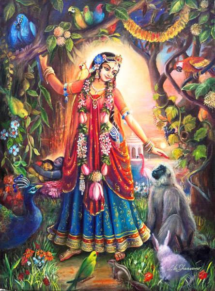 Wall Art - Painting - Vrinda Devi by Lila Shravani