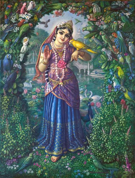 Wall Art - Painting - Vrinda Devi by Satchitananda das Saccidananda das