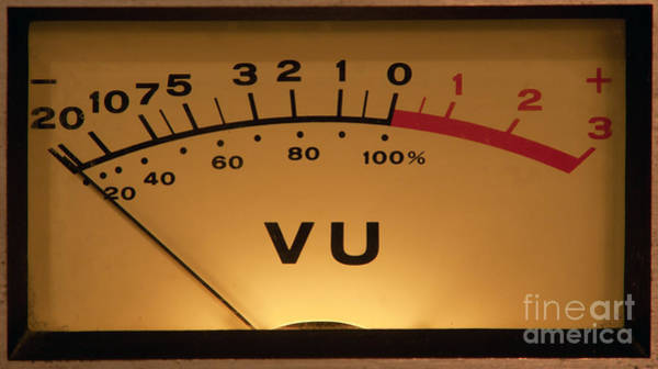 Photograph - Vu Meter Illuminated by Gunter Nezhoda