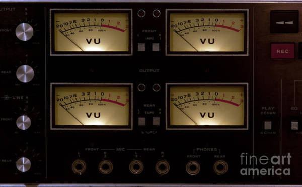Photograph - Vu Meter Input Output by Gunter Nezhoda