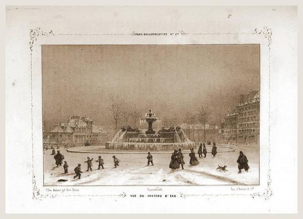 Chateau Drawing - Vue De Chateau Deau, Paris And Surroundings by Litz Collection