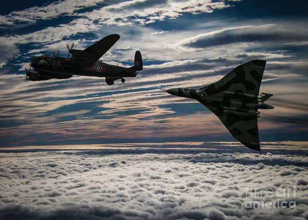 The Falklands War Digital Art - Vulcan And Lancaster by Paul Heasman