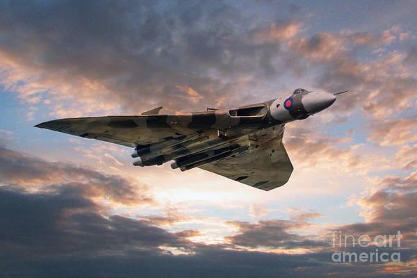 Vulcan Xh558 Wall Art - Digital Art - Vulcan Bomber by J Biggadike