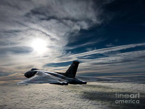 The Falklands War Digital Art - Vulcan Bomber by Paul Heasman