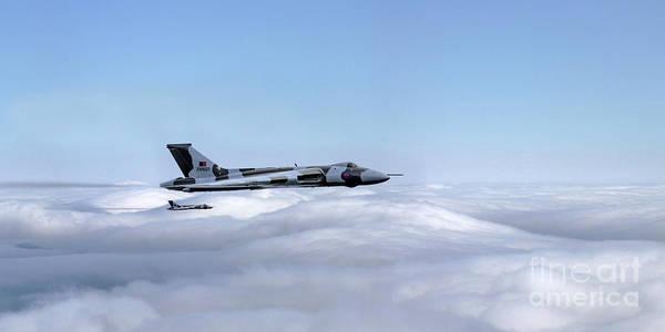 Falklands Digital Art - Vulcan Bombers by J Biggadike