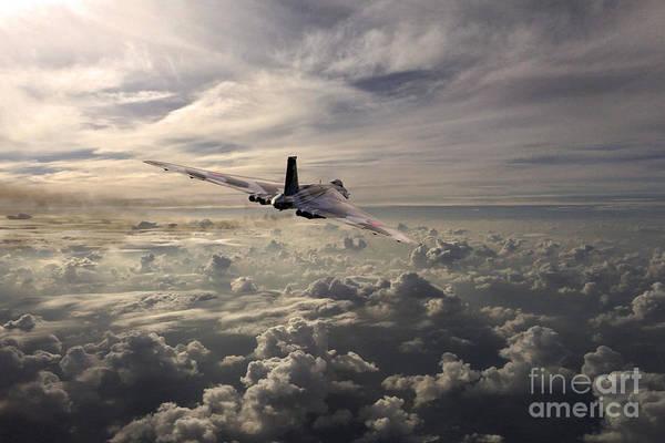 Falklands Digital Art - Vulcan Farewell  by J Biggadike