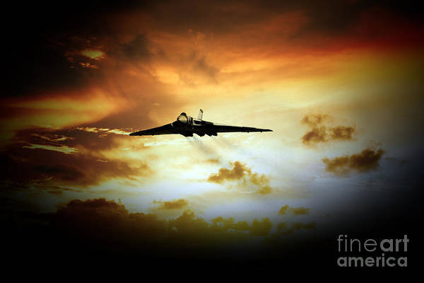 Falklands Digital Art - Vulcan Fire  by J Biggadike