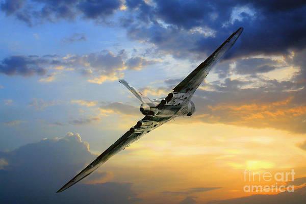 Falklands Digital Art - Vulcan Guardian by J Biggadike
