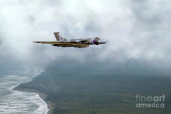 Falklands Digital Art - Vulcan Landfall by J Biggadike