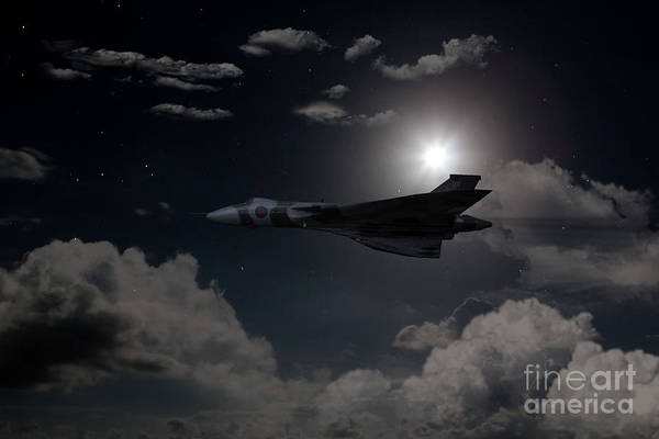 Falklands Digital Art - Vulcan Moon  by J Biggadike