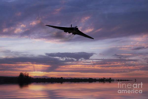 Falklands Digital Art - Vulcan Over The Water  by J Biggadike