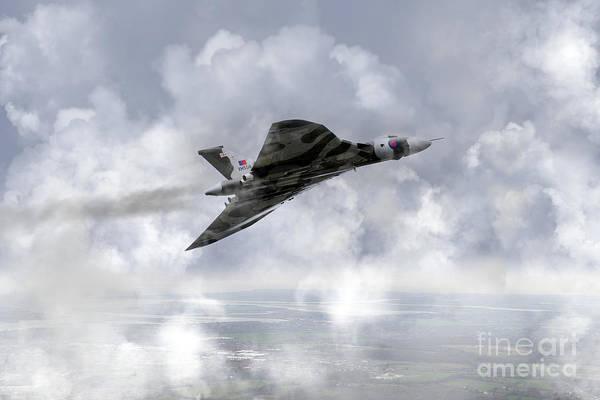 Falklands Digital Art - Vulcan Soar by J Biggadike