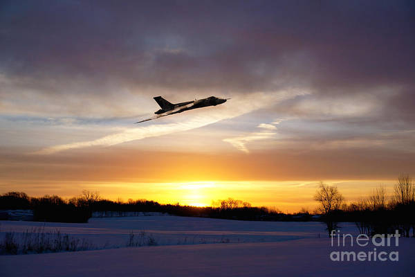 Avro Vulcan Wall Art - Digital Art - Vulcan Sundown  by J Biggadike