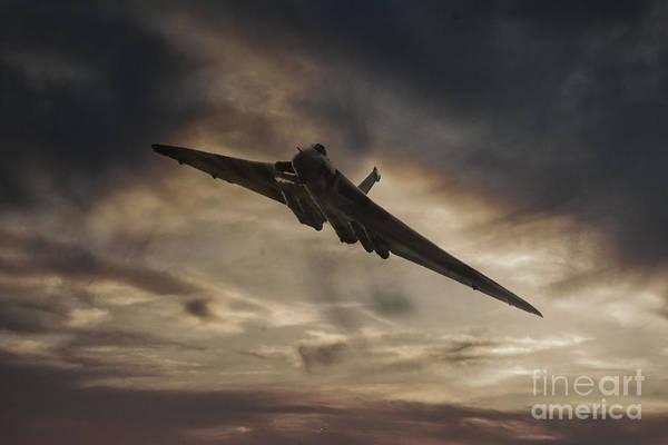 Vulcan Xh558 Wall Art - Digital Art - Vulcan Sunset by J Biggadike