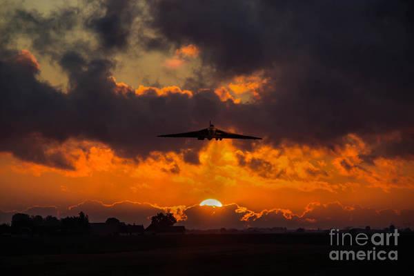 Nuclear Bomber Wall Art - Digital Art - Vulcan Sunset Scramble  by J Biggadike
