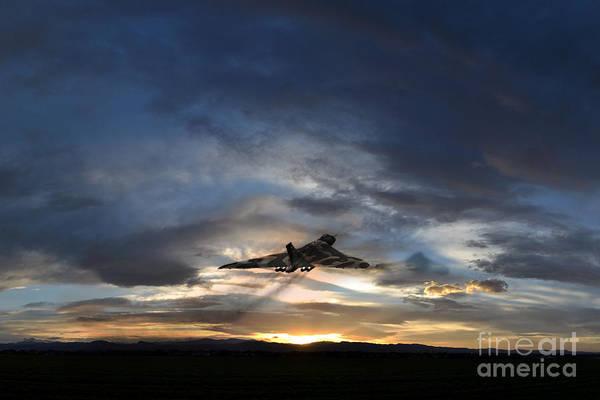 Falklands Digital Art - Vulcan Take Off by J Biggadike