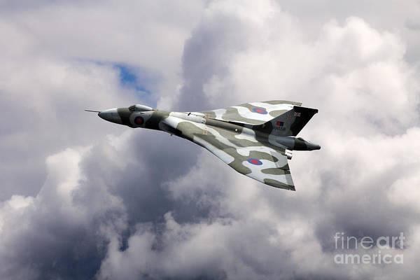 Falklands Digital Art - Vulcan Top Side by J Biggadike