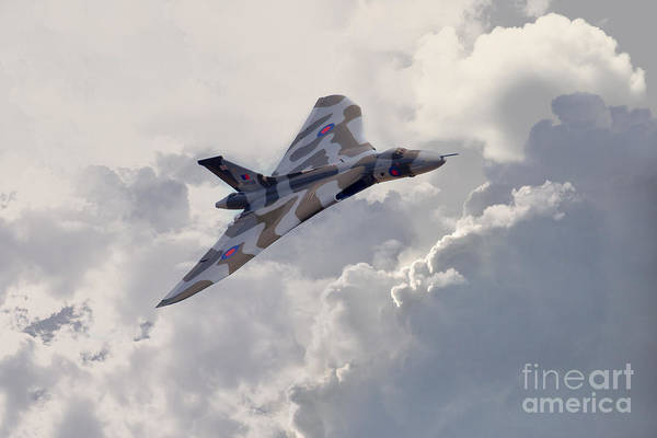 Avro Vulcan Wall Art - Digital Art - Vulcan Topside  by J Biggadike