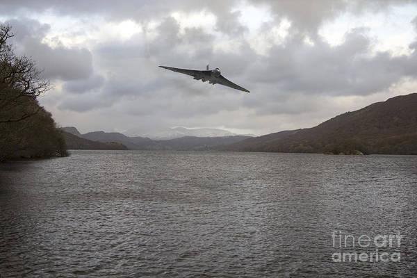 Falklands Digital Art - Vulcan Training by J Biggadike