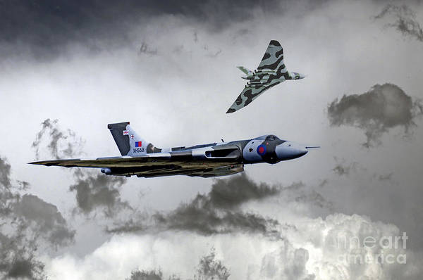 Falklands Digital Art - Vulcan Wingman by J Biggadike