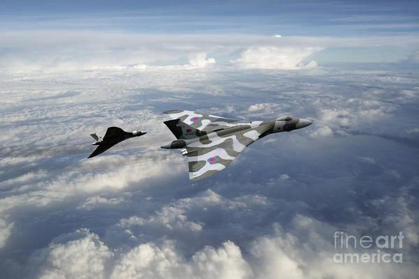 Falklands Digital Art - Vulcans by J Biggadike