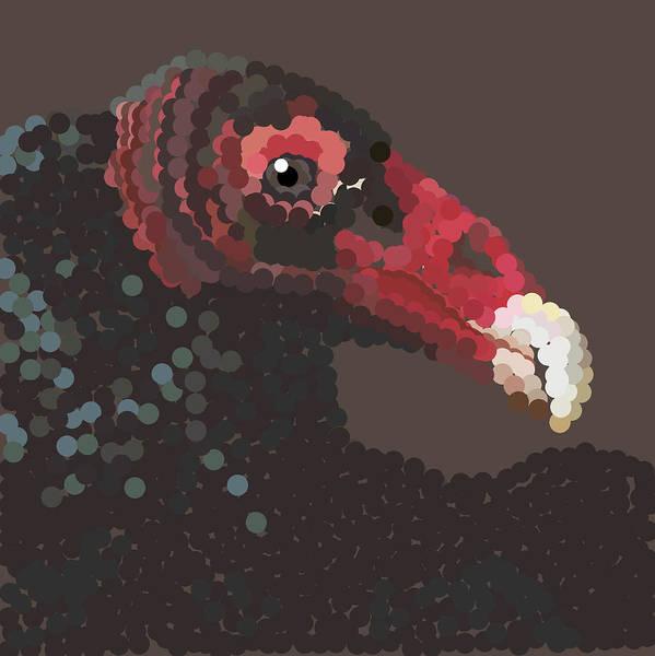 Digital Art - Vulture Pixel Pointillized by R  Allen Swezey