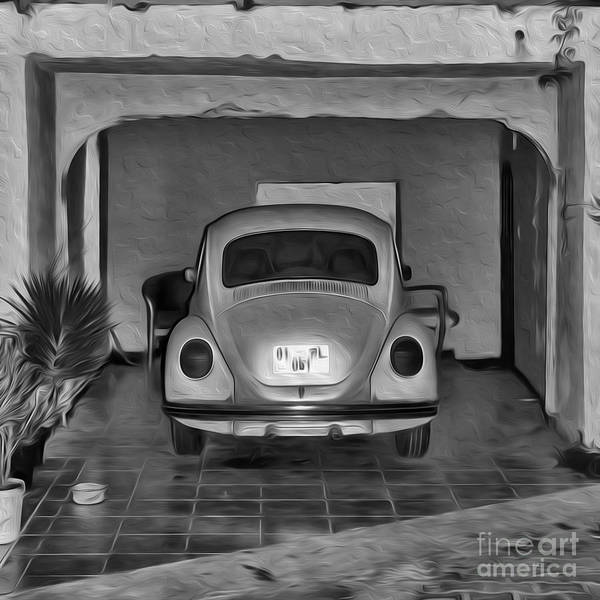 Collector Car Painting - Vw Beetle Digital Painting by Antony McAulay