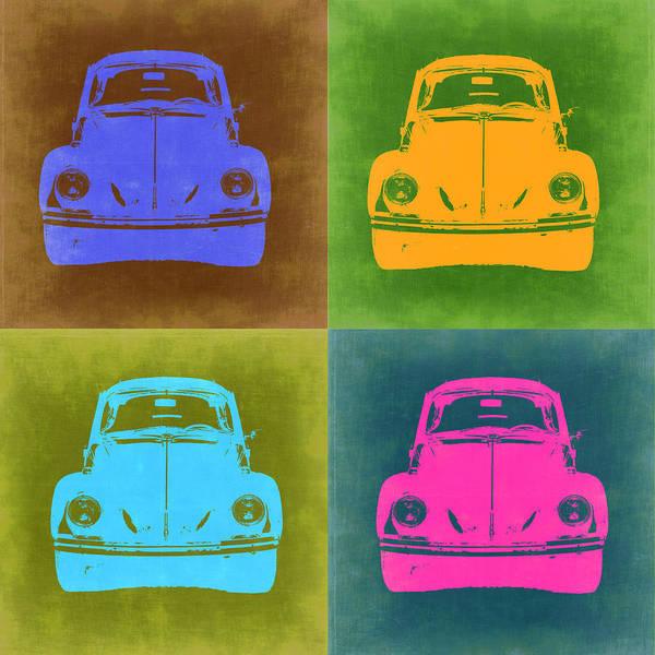 Vw Beetle Wall Art - Painting - Vw Beetle Pop Art 6 by Naxart Studio