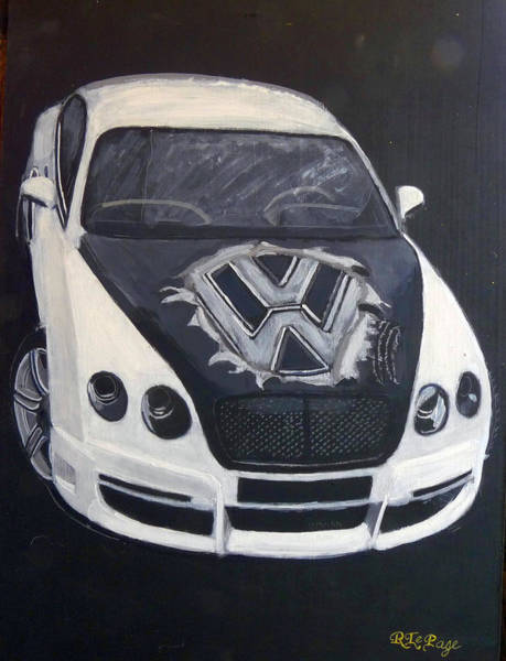 Painting - Vw Bentley by Richard Le Page