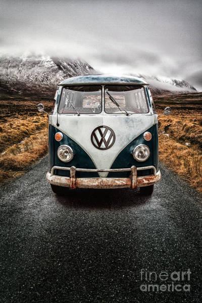 Scottish Highlands Photograph - Vw Camper Glen Etive by John Farnan
