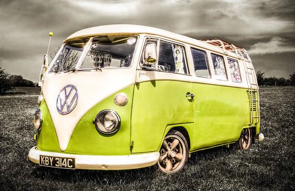 Volkswagen Camper Photograph - Vw Campervan by Ian Hufton