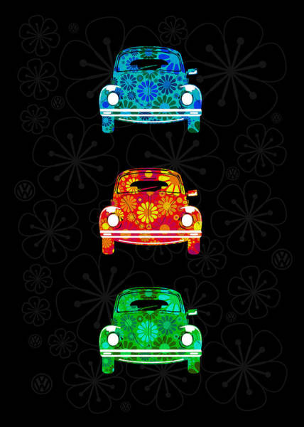 Wall Art - Photograph - Vw Flower Power by Mark Rogan