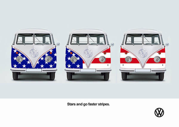 Wall Art - Photograph - Vw Go Faster Stripes by Mark Rogan