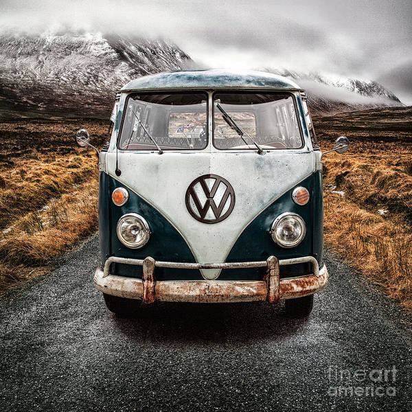Camper Wall Art - Photograph - Vw In Glen Etive by John Farnan