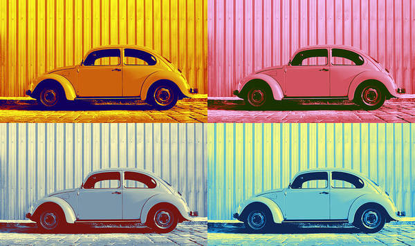 Lively Photograph - Vw Pop Autumn by Laura Fasulo