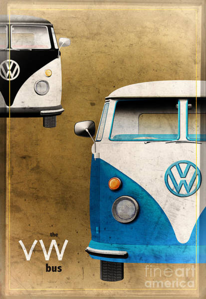 Digital Art - Vw The Bus by Tim Gainey